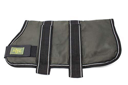 Fenside Country Clothing Manteau pour chien imperméable, coupe-vent et respirant – Polyester chaud rembourré (35,5 cm, olive)