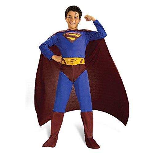 Superman - traje de la película favorable para los niños, de 3 piezas, DC Comics Faschingskostüm - L