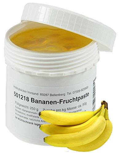 Hobbybäcker Bananen-Fruchtpaste ► Zum Verfeinern von Eis, Pralinen, Desserts & Tortencremes, Fruchtige Aromapaste, 250g