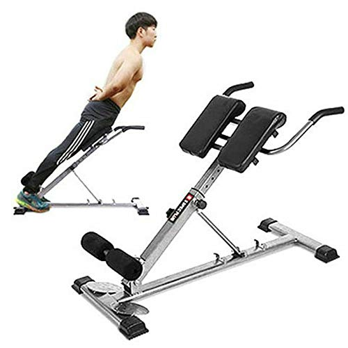 Product Image 1: HULKWHEELS Bench Roman Chair Back Hyperextension Adjustable AB Bench Hyperextension Exercise Hyper Bench Strength Training Back Machines (Black)