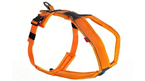 Line Harness von Nonstop, Brustgeschirr, Führgeschirr für Hunde, Größenverstellbar (1, Orange)