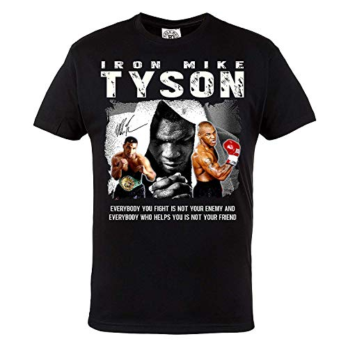 Rule Out HerrenT-Shirt. Mike Tyson. Boxing Champion. Boxe. Iron Mike. Casual Wear (Taglia Large)