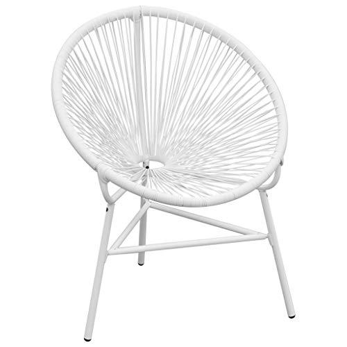 vidaXL Gartenstuhl Poly Rattan Sessel Stuhl Lounge Korbsessel Outdoorstuhl