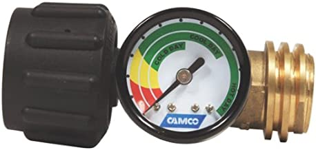 Camco Propane Gauge/Leak Detector, Type 1 Connection for Gas Grills, RVs and Boats - 59023