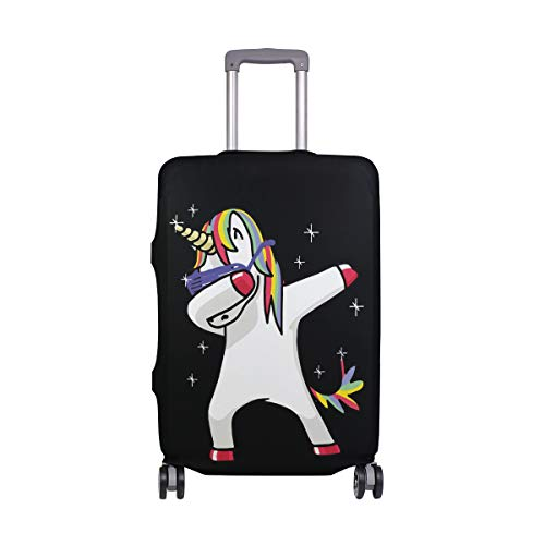 Orediy Elastic Travel Luggage Cover Watercolor Cute Unicorn Print Trolley Case Suitcase Protector(Without Suitcase) S M L XL Size