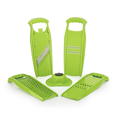 Börner Reiben-Set Powerline in grün - Gemüsemesser - Crinkle Cutter - Rösti