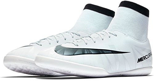 Nike Nike Unisex-Kinder Jr MercurialX Vcty 6 Cr7 Df Ic Fußballschuhe, Weiß (Teinte Bleue/Blanc/teinte Bleue/Noir), 36.5 EU