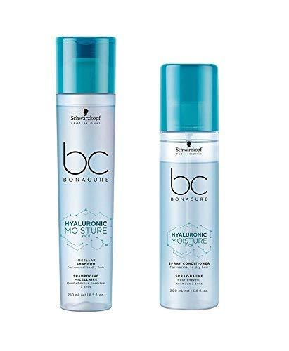 Schwarzkopf Bonacure Hyaluronic Moisture Kick Micellar Shampoo 250ml and Spray Conditioner 200ml