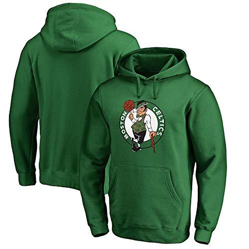 Jntm-Sports Herren Hoodie NBA Fans Jersey Boston Celtics Sweatshirt Kordelzug Langarm Lässig Bequemer Pullover S-XXXL Grün, M