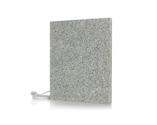 Magma® Naturstein-Infrarotheizung Original - Deutscher Hersteller seit 1992 - Magmaheizung mit 10 Jahren Garantie (Granit Grau/Weiß, 400 Watt / 450 x 450)