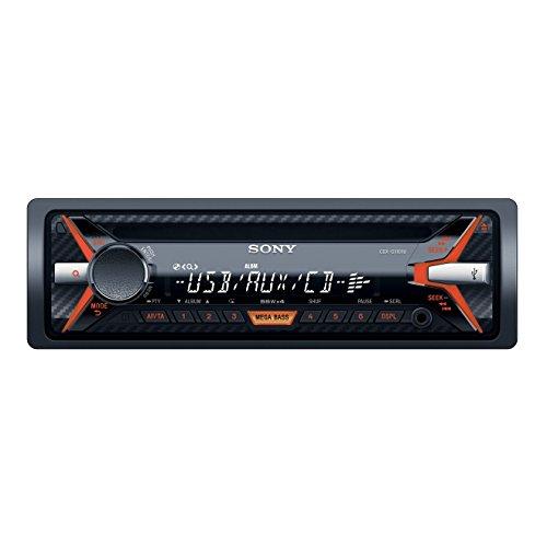 Sony CDX-G1101U - Radio CD/MP3 para coches (220W, USB, AUX, iluminación ámbar), negro