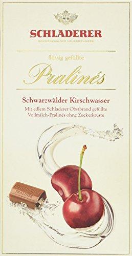 RCP Schladerer Kirschwasser-Pralinés, Vollmilch-Schokolade, Ohne Zuckerkruste, Flüssige Füllung, Alkoholhaltig, Tolles Geschenk, 2 x 127 g