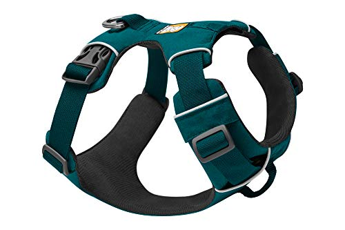 RUFFWEAR - Front Range Dog Harness, Reflective and Padded Harness for Training and Everyday, Tumalo Teal, Medium