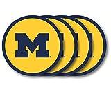 Duck House NCAA Vinyl Untersetzer Set, Michigan Wolverines
