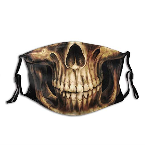 Jingliwang Mundschutz Master Skull Boxer Face With Filter Pocket Washable Reusable Face Bandanas Balaclava With 2 Pcs Filters