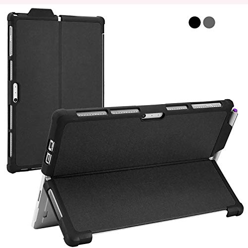 Microsoft Surface Pro Protective Case with Pen Holder,All-in-One Shockproof Thicken Rugged Microsoft Surface Pro 7/ Pro 6/ Pro 5/ Pro 4 Case Cover Shell(Black)