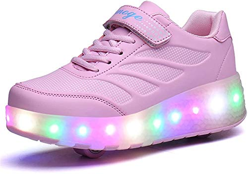 Led Luces Zapatos con Ruedas Dobles para...