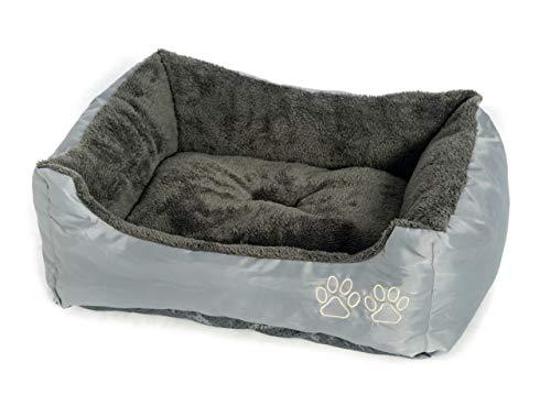 BIANCHERIAWEB Cuccia con Cuscino per Animali Domestici Modello New Cucciolona Colore Grigio Piccola Grigio