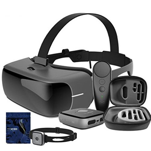 AYI mit Augenschutz VR-Kopfhörer 3D-Brille, 360 HD Immersiv Virtual-Reality-Helm Video-Gamepad, iPhone 7 6 6S Plus, Samsung S6/S6 Edge/Note5, Somatosensorisches Spiel,Somatosensorysuit