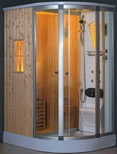 Items Francia Brescia 2 – Baño Turco Sauna Ducha con hidromasaje 160 x 120 x 218: Amazon.es: Hogar