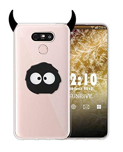 Sunrive Funda para LG G5, Silicona Slim Fit Gel Transparente Carcasa 3D Case Bumper de Impactos y Anti-Arañazos Espalda Cover(A1 Monstruo)