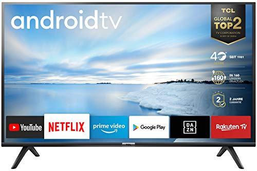 TCL 40ES561 Smart TV Full HD, Android TV: Risoluzione HDR, Assistente Google integrato, Dolby Audio per suoni chiari e dinamici, Nero, 40 Pollici
