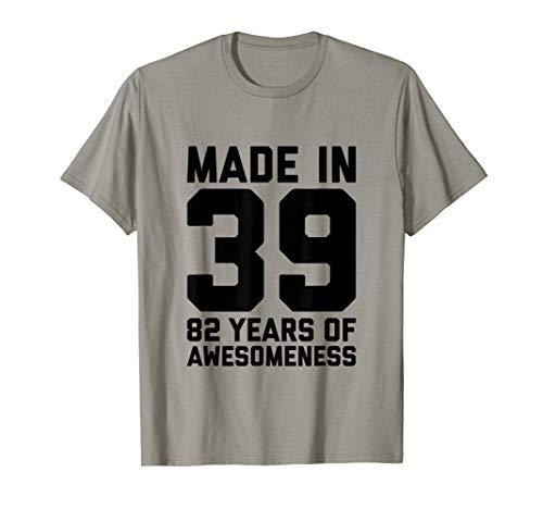 82° Regalo di compleanno per lui Uomo Età 82 anni Nonno 1939 Maglietta