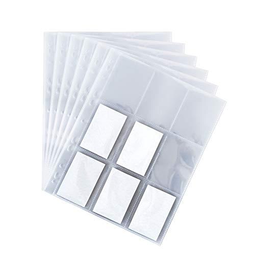 BigDean 50 DIN-A4 Seiten Sammelkarten-Hüllen - 450 Fächer - Made in Germany - transparent - Sammelkarten-Album Trading Card Folien Ordner Mappe Sammelalbum für Karten