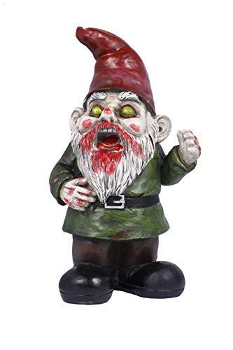 Fanssie Zombie Dead Garden Gnome Statue Outdoor Sculpture Halloween Decoration, 11 inches...