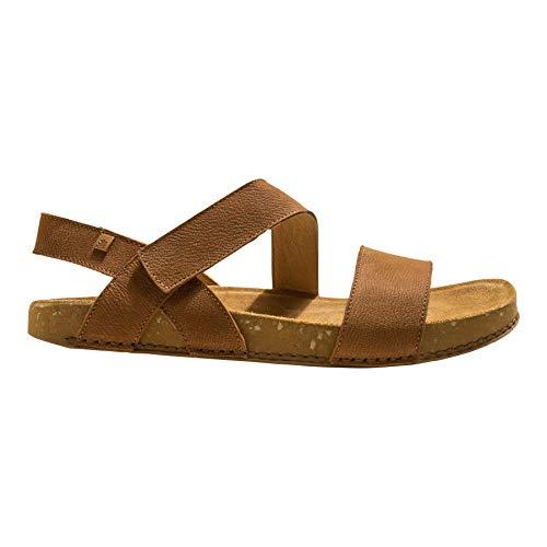 El Naturalista Mujer Sandalia con Tiras Balance, señora Sandalias,cómoda,Plana,Sandalia,Zapato de Verano,Marrón (Wood /),41 EU / 8 UK