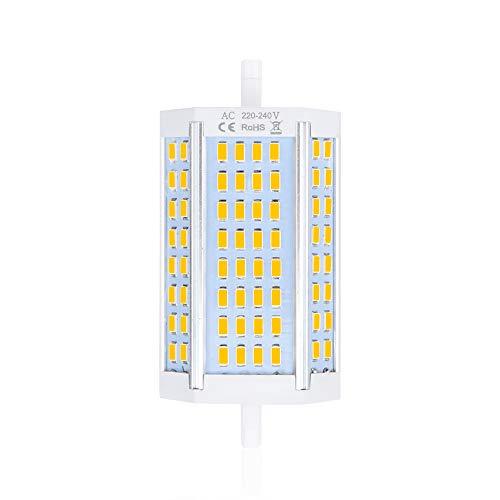 Bonlux 30W R7s Dimmable 118mm Ampoule LED J118 projecteur double extrémités Blanc Chaud 3000K équivaut à ampoule halogène 300-360W pour maison, salon, balcon, bureau, hôtel, restaurant, etc(1pcs)