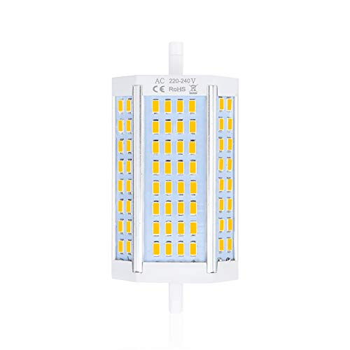Bonlux R7S LED 118MM 30W Dimmbar Lampe AC 220V Warmweiß 3000K 3000-3300LM Ersatz 300W Halogenbirne 200 Grad für Werbung Landschaft Hotelfassade Beleuchtung(1 Stück)