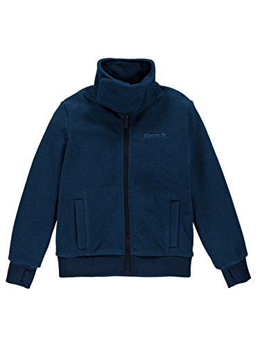 Bench Jungen CORE Funnel Fleece Trainingsjacke, Blau (Navy Blue Bl063), 164 (Herstellergröße: 13-14)