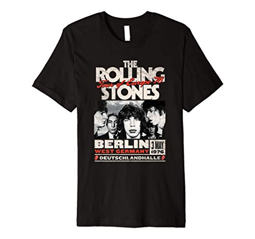 Mens The Rolling Stones Berlin 76 Premium T-Shirt