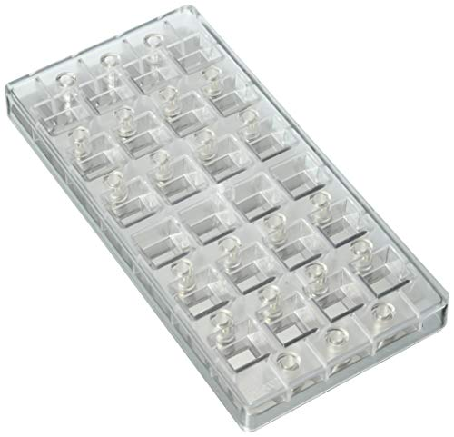 Buy Bargain Fat Daddio's PCMM-01 Chocolate Candy Mold, 1.34 x .59 x .59, Translucent, Silver