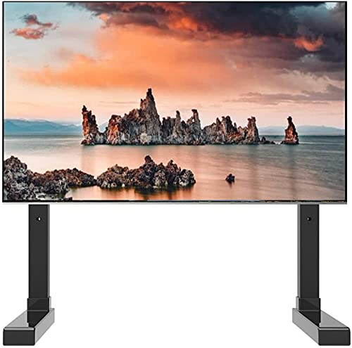 Upgraded Black Table Top TV Stand for 32 43 50 55 60 65 70inch TV, Bedroom/Living Room TV Display Stand, Small Space
