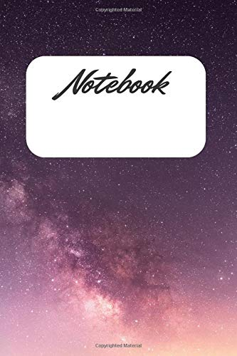 Purple Sky Notebook: Lined Paper Wide Ruled Notebook for school for a gift, Journal (100 Pages, 6 x 9)