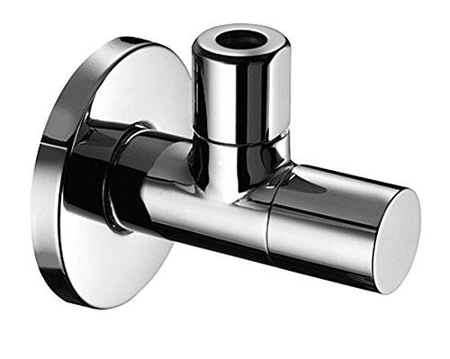 SCHELL 053760699 Design Eckregulierventil STILE / Eckventil 1/2''x3/8'', verchromt , Ventil mit verdeckter Ventilbetätigung, mit Schubschaft, Rosette , 60 mm, Längenausgleich , Ganzmetall-Konstruktion