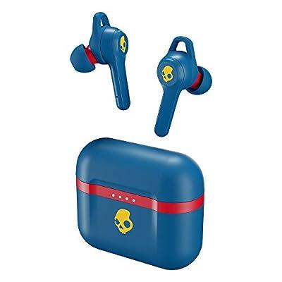 Auriculares Inalámbricos In-Ear Skullcandy Indy EVO True Wireless, con Bluetooth Incorporado, Resistencia al Sudor, el Agua y al Polvo IP55, Batería de hasta 30 Horas de Duración Total - Azul
