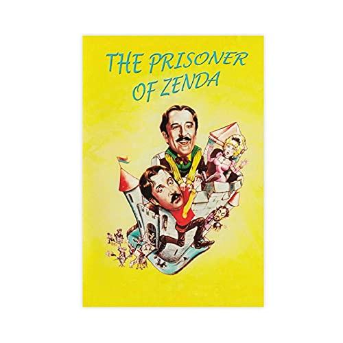 """Poster cinematografico d'epoca con film """"Il prigioniero di Zenda"""", decorazione da parete per soggiorno, camera da letto, senza cornice, 30 x 45 cm"""