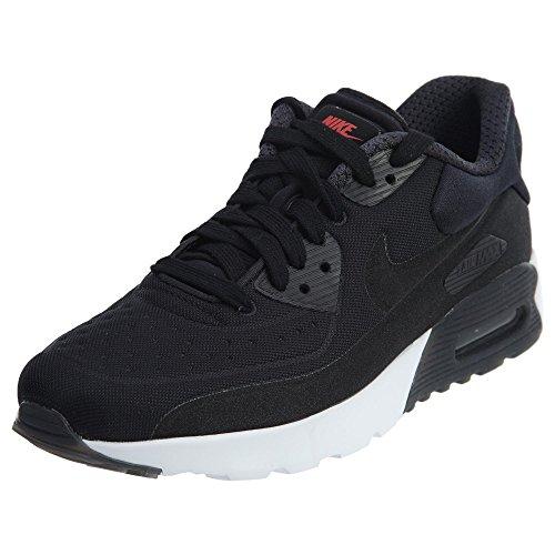 Nike Herren Air Max 90 Ultra PRM (GS) Laufschuhe, Black (Schwarz/Schwarz-Universität Rot-Weiß), 38.5 EU