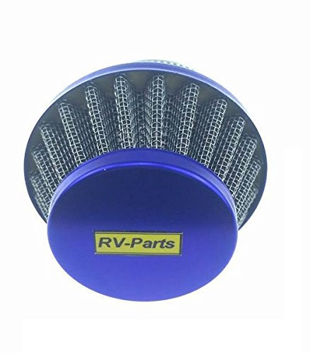 RV-Parts Luftfilter Blau Pocketbike Pocket Bike- 49ccm Dirtbike rennbikes Quad ATV - Mini Cross Kinder Motorrad Lufteinlass 44mm Anaugstutzen Sport Tuning