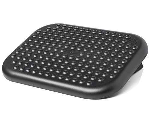 Under Desk Foot Rest, Black Footstool & Office Ergonomic Footrest, Adjustable Angle & 3 Positions, 17.6' X 13.1' - Great for Home & Work