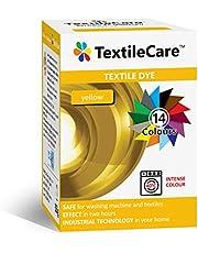 TextileCare - Tinte para tela de lavadora, color negro para ropa y textiles, 350 g de tinte para 600 g de ropa, 14 colores amarillo