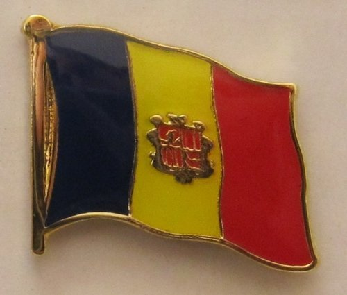 Pin Anstecker Flagge Fahne Andorra Nationalflagge Flaggenpin Badge Button Flaggen Clip Anstecknadel