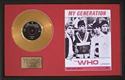 The Who - My Generation Goldene Schallplatte & Liedtext, eingerahmt