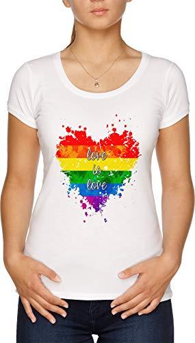 Love Is Love Camiseta Mujer Blanco