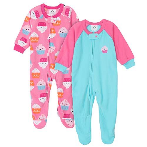 Gerber Baby Girls' 2-Pack Blanket Sleeper, Cupcakes Pink, 18 Months