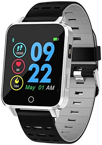 Reloj inteligente para hombre y mujer, 1,54 pulgadas IPS HD Monitor de salud con control dinámico de la frecuencia cardíaca, análisis de datos de sueño, modo deportivo, aGray, Agray