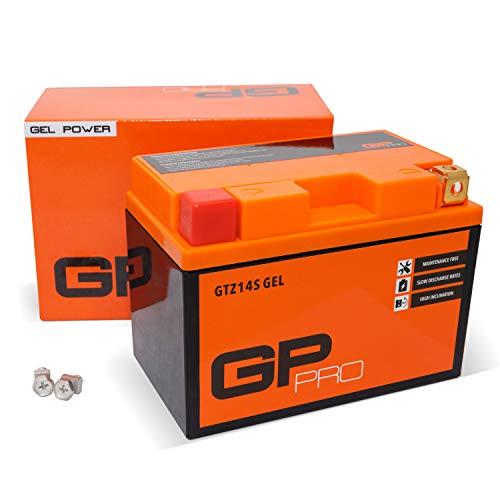 GP-PRO GTZ14S 12V 11.2Ah GEL-Batterie (Kompatibel mit YTZ14-S / YTZ14S-BS) (Wartungsfrei & Versiegelt) Akkumulator Motorrad Motorradbatterie